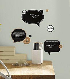 RoomMates Chalk and Dry Erase Speech Bubbles Peel & Stick Wall Decals
