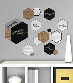 RoomMates Hexagon Chalk and Dry Erase Calendar Peel & Stick Wall Decals