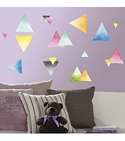 RoomMates Watercolor Triangle Peel & Stick Wall Decals