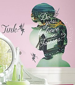 RoomMates Tinkerbell Silhouette Mega Peel & Stick Giant Wall Graphic