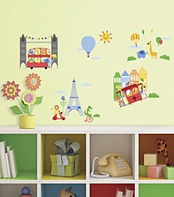 RoomMates Animals in the City Peel & Stick Giant Wall Decals