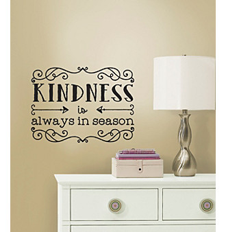 RoomMates Kindness Quote Peel & Stick Wall Decals