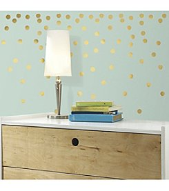 RoomMates Gold Confetti Dots Peel & Stick Wall Decals