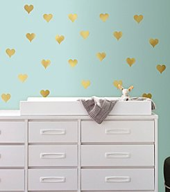 RoomMates Gold Heart Peel & Stick Wall Decals
