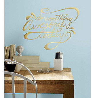 RoomMates Do Something Awesome Quote Peel & Stick Wall Decal