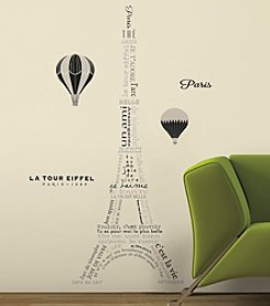 RoomMates Eiffel Tower Neutral Peel & Stick Giant Wall Decals