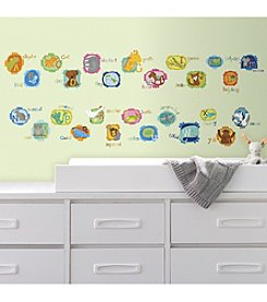 RoomMates ABC Animal Peel & Stick Wall Decals