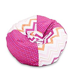 Ace Bayou Medium Multicolor Dotted Chevron Bean Bag