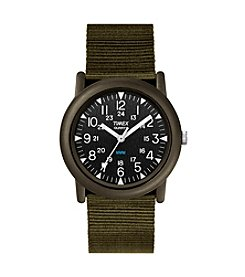 Timex® Men's Camper Green Nylon Strap Watch