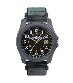 Timex® Men's Expedition Camper Black Dial Grey Nylon Strap Watch