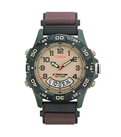 Timex® Men's Expedition Combo Brown Nylon Strap Watch