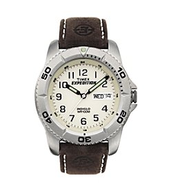 Timex® Men's Expedition Traditional Brown Leather Strap Watch