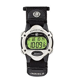 Timex® Unisex Expedition Digital CAT Black Fast Wrap Velcro Strap Watch