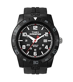 Timex® Men's Expedition Rugged Analog Black Resin Strap Watch