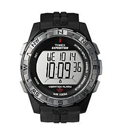 Timex® Men's Expedition Vibration Alarm Black Resin Strap Watch
