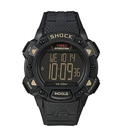 Timex® Men's Expedition Digital Shock CAT Black Resin Strap Watch