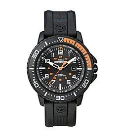 Timex® Men's Expedition Uplander Black Orange Black Resin Strap Watch