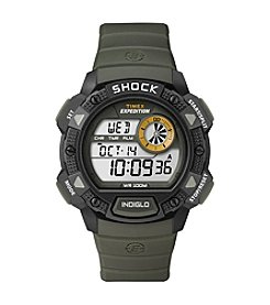 Timex® Men's Expedition Base Shock Black/Green Watch