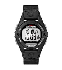 Timex® Men's Expedition Digital CAT Black Nylon Strap Watch