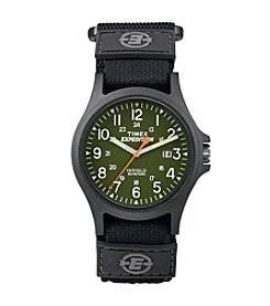 Timex® Men's Expedition Acadia Green/Black Fast Wrap Velcro Strap Watch