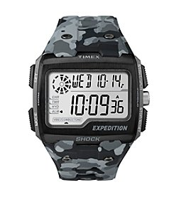 Timex® Men's Expedition Grid Shock Grey Camo Resin Strap Watch