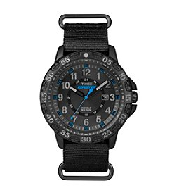 Timex® Men's Expedition Gallatin Black Nylon Slip-Thru Strap Watch