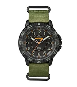 Timex® Men's Expedition Gallatin Green Nylon Slip-Thru Strap Watch