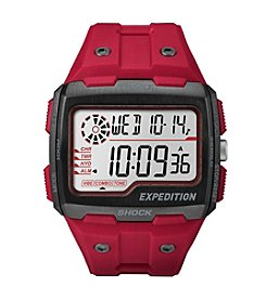 Timex® Men's Expedition Grid Shock Red Resin Strap Watch