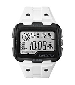 Timex® Men's Expedition Grid Shock White Resin Strap Watch