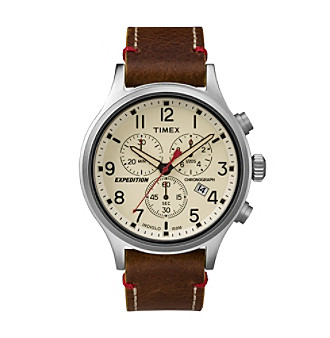 Timex® Men's Expedition Scout Chrono Brown Leather Slip-