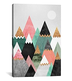 iCanvas Pretty Mountains by Elisabeth Fredriksson Canvas Print
