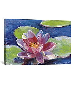 iCanvas Lily Pad Flowers by Richard Wallich Canvas Print