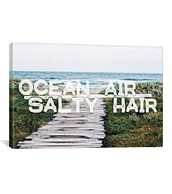 iCanvas Ocean Air Salty Hair by 5by5collective Canvas Print