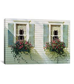 iCanvas Windows With Flowerboxes by Zhen-Huan Lu Canvas Print