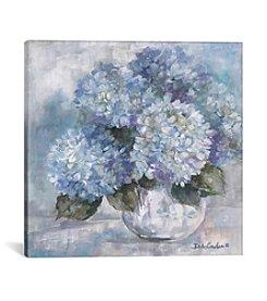 iCanvas Hydrangea Blues by Debi Coules Canvas Print
