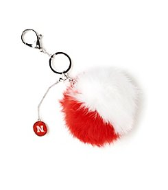accessory PLAYS™ NCAA® University Of Nebraska Two-Tone Puff Charm Key Ring