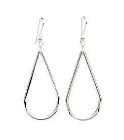 Marsala® Silver-Plated Open Teardrop Earrings