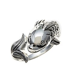 Marsala Fine Silver Plated Koi Bypass Ring