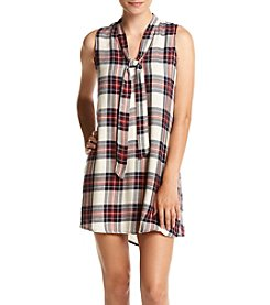 Be Bop Sleeveless Plaid Dress