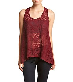Eyeshadow® All Over Lace Swing Tank Top