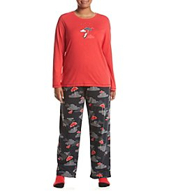 HUE® Plus Size Socks And Pajama Set