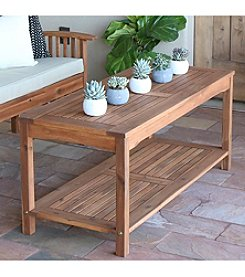 W. Designs Acacia Wood Patio Coffee Table