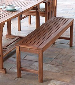 W. Designs Acacia Wood Patio Bench