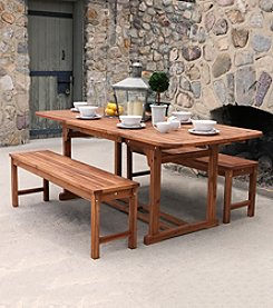 W. Designs 3-pc. Acacia Patio Dining Set