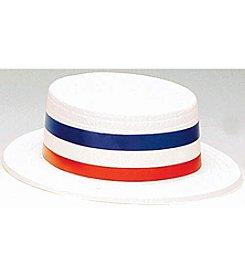 Patriotic Plastic Skimmer Adult Hat