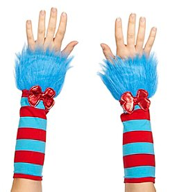 Dr. Seuss™ The Cat In The Hat® Thing 1 and Thing 2 Striped Adult Fuzzy Glovettes
