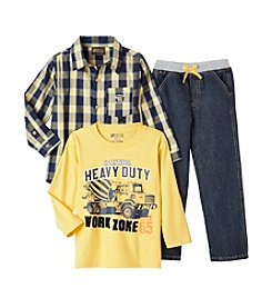 Nannette® Boys' 4-7 3-Piece Plaid Shirt Set