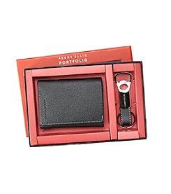 Perry Ellis Portfolio® Trifold Wallet and Key Fob