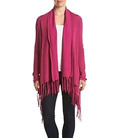 Chelsea & Theodore® Fringe Cardigan Sweater