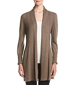 August Silk® Open Front Flyaway Cardigan